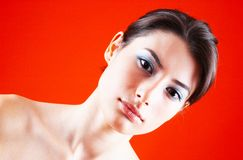 Serious Teen Angled Portrait Stock Image