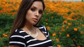Serious Teen Girl In Meadow Royalty Free Stock Photos