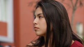Serious Teen Girl. Pretty young teen Peruvian girl Stock Photography