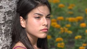 Serious Teen Girl. Stock video in 4k or HD resolution stock video