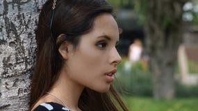 Serious Teen Girl. Young teen pretty hispanic girl Stock Images