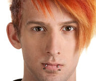 Serious Teen with Lip Piercing Royalty Free Stock Images