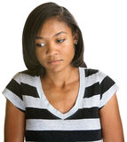 Serious Teen Looking Down Royalty Free Stock Images