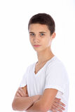 Serious teenage boy Royalty Free Stock Photos