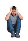 Serious Teenager boy Stock Images