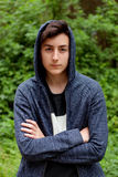 Serious teenager guy Stock Photography