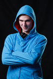 Serious teenager in hood Royalty Free Stock Photography