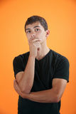 Serious Thinker stock photo