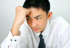 Serious thinking Stock Images