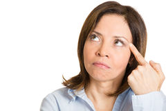 Serious thinking, angry Royalty Free Stock Image