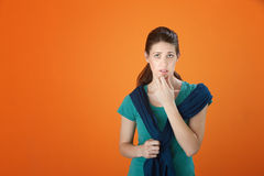 Serious Thinking Girl Stock Photography