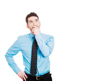 Serious thinking man Stock Images