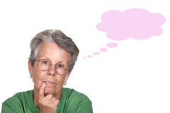 Serious and thoughtful elderly Royalty Free Stock Photography
