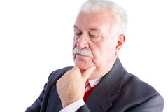 Serious thoughtful mature businessman Royalty Free Stock Image