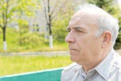 Serious thoughtful senior man Stock Image