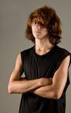 Serious, tough teen stock photos