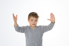 Serious trouble for a young kid Stock Photography