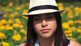 Serious Unhappy Teen Girl. Stock video in 4k or HD resolution stock video