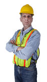 Serious Union Construction Worker Man Isolated Stock Photos