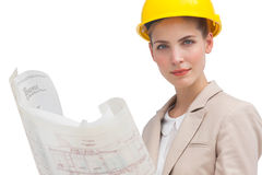 Serious woman architect Royalty Free Stock Photo