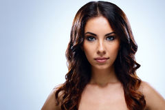 Serious woman with beautiful face Royalty Free Stock Image