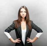 Serious woman in business Stock Photography