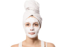 Serious woman in a face mask Stock Photography