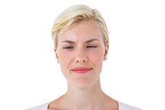 Serious woman frowning Stock Photos
