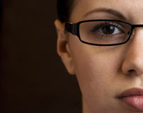Half woman's face Royalty Free Stock Photos