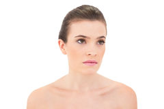 Serious woman looking away Stock Images