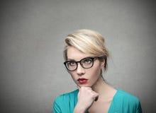 Serious woman Stock Photography