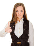 Serious woman pointing her finger at you Stock Image
