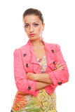 Serious woman posing Royalty Free Stock Image