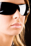 Serious woman in sunglasses portrait Royalty Free Stock Photos