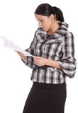 Serious women read document Royalty Free Stock Image