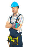 Serious Worker Man Stock Photo