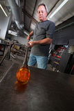 Serious Glass Artisan Royalty Free Stock Image