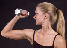 Serious about workout! Royalty Free Stock Images