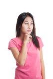 Serious  young Asian woman  look away.. Royalty Free Stock Photos
