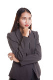Serious  young Asian woman  look away. Royalty Free Stock Photography