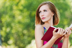 Serious young beautiful woman Royalty Free Stock Image