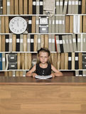 Serious Young Business girl Royalty Free Stock Image