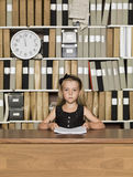 Serious Young Business girl Royalty Free Stock Images