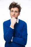 Serious young business man in glasses Stock Photo