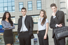 Serious Young Business People Stock Photo