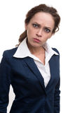 Serious young business woman looking at camera Royalty Free Stock Images
