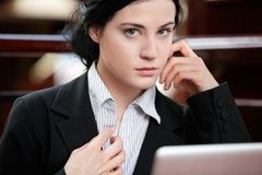 Serious Young Business woman Stock Photography