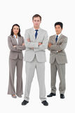 Serious young businessteam standing together Royalty Free Stock Photo