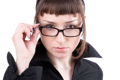 Serious young businesswoman Royalty Free Stock Photos