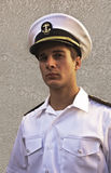 Serious Young Cadet. This is a picture of a cadet at the California Maritime Academy, a college preparing future officers for the merchant marines Royalty Free Stock Photos